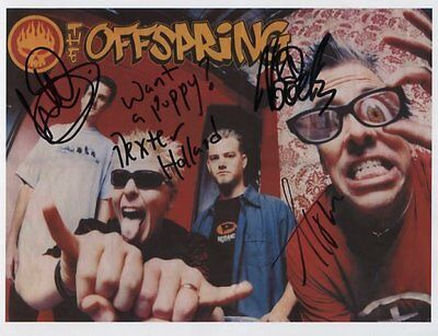 The Offspring SIGNED Photo 1st Generation PRINT Ltd No'd + Certificate / 1