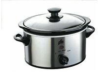 Team Sl5815m 1.5ltr Stainless Steel Compact Slow Cooker [BRAND NEW]