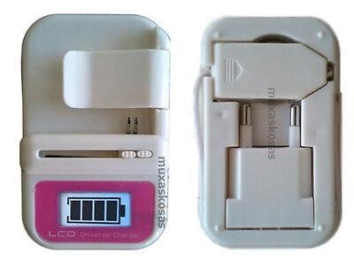 Cargador Universal bateria Universal red y coche con puerto usb y display lcd