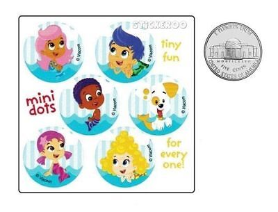 60 Bubble Guppies Dot Stickers Kid Party Goody Loot Bag Filler Favor Supply - Bubble Guppies Favors
