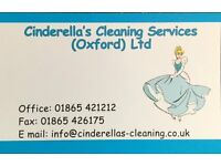 Part Time Cleaner (Driver) & Self Employed Cleaners & Office / School Cleaners