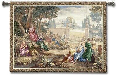 OLD WORLD ROMANTIC FLEMISH MEDIEVAL ART TAPESTRY WALL HANGING 70x52