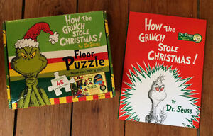 HOW THE GRINCH STOLE CHRISTMAS Book and Puzzle $20