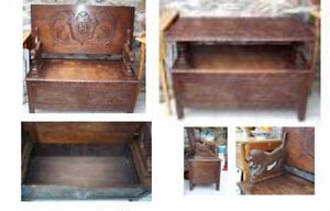 Antique Monk's Bench/Table