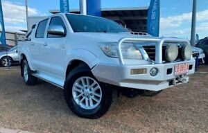 2012 Toyota Hilux KUN26R MY12 SR5 Double Cab White 4 Speed Automatic Utility Berrimah Darwin City Preview