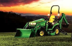 John Deere 1025R Tractor Loader and Backhoe