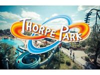 Thorpe park tickets x2 adults tickets usual price £29,99 each sell for £30 for both