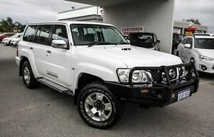 2012 Nissan Patrol GU 7 MY10 ST White 4 Speed Automatic Wagon Embleton Bayswater Area Preview
