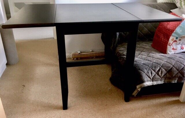 Ikea Black Folding Dining Table In Bury St Edmunds Suffolk Gumtree