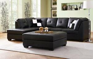 2 PC BONDED LEATHER SECTIONAL $1198