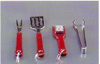 Reutter-Miniatur f.d. Puppenstube: Grillbesteck,4 tlg,1:12