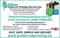 LASER CHEQUES