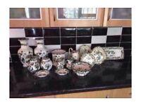 Green mason kitchen set dish wear