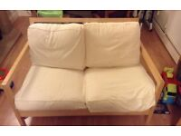 Wanted two seater wooden sofa