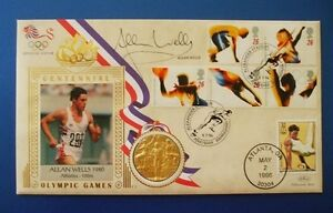 BENHAM-1996-CENTENNIAL-OLYMPIC-GAMES-COVER-SIGNED-BY-ALLAN-WELLS