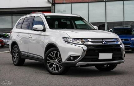 2015 Mitsubishi Outlander ZK MY16 LS 4WD White 6 Speed Constant Variable Wagon Hobart CBD Hobart City Preview