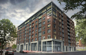 Condo neuf au centre-ville, gym, terrasse, chauf/elec inclus