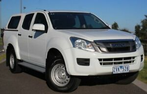 2013 Isuzu D-MAX MY12 SX Crew Cab 4x2 High Ride White 5 Speed Sports Automatic Utility Officer Cardinia Area Preview