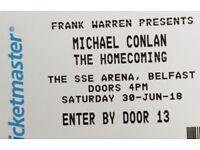 2 tickets Michael Conlan boxing SSE Arena Belfast.