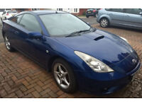 Toyota Celica 1.8 VVTi 2003 (53 plate) Metallic blue. Low mileage (75594), MOT until Oct2018