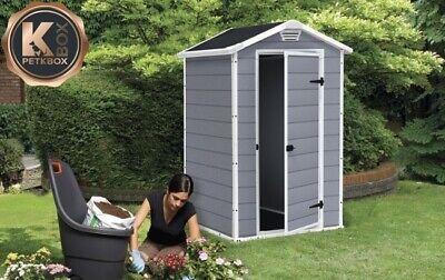 Keter casetta da giardino in resina box porta attrezzi con pavimento 4x3 MANOR