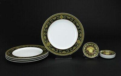 EIGHT PIECES OF VERSACE MEDUSA DINING WARE VINTAGE