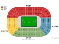 SRU Scotland Pair of Rugby Debenture Seats . North Stand