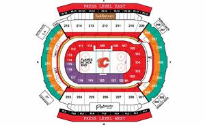 Calgary Flames vs LA Kings - Section 220 Row 10