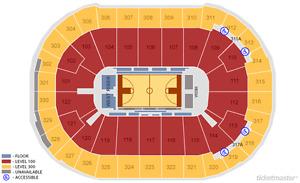 Golden State Warriors @ Toronto Raptors (SEC 315, ROW 12)