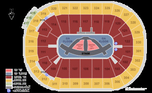 (Sat, May 25, 2019) Carrie Underwood tickets (sec 326, row 3)