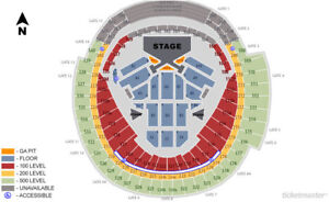 Taylor Swift A5 FLOORS Row 21 TWO tickets Aug-3-2018
