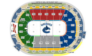 VANCOUVER CANUCKS V DALLAS STARS + LOWER BOWL SECTION 115 AISLE