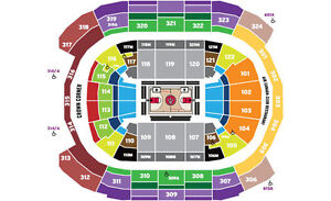 Raptor Playoff Game 5 Monday 7pm First row Upper Bowl