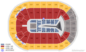 The Weeknd (SEC 319, ROW 8) 2 tickets
