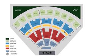 Robert Plant - VIP Center Floor row 5 - best seats below cost !