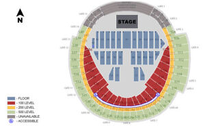 2-4 Ed Sheeran tickets Aug 30 - Rogers Centre S129 + S235 + A11