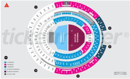 4 x Front GA Standing tickets - Ed Sheeran - Fri 2nd March