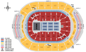 THE WHO - UP TO 8 TICKETS - 303 ROW 2, CENTER VIEW OF STAGE