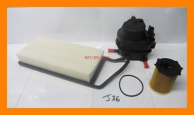 Service Kit Oil Filter Fuel Filter  Air Filter FORD FUSION 14 TDCi Diesel