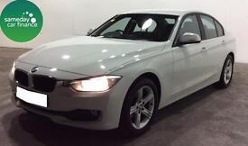 £208.95 PER MONTH WHITE 2012 BMW 318D 2.0 SE SALOON DIESEL MANUAL