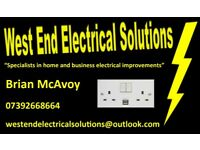 Honest, reliable and friendly electrician in Glasgow, West End . Call 07392668664 for a free quote.
