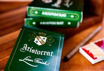 Aristocrat Linen Finish Playing Cards Green deck brand new sealed