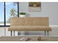 Beige click clack sofa bed