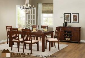 Contemporary Dining Collection featured in a Rustic Pecan finish (MA391)