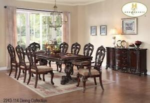 GREAT DEAL ON DINNING SET WITH TABLE 2 ARM CHAIRS AND 4 SIDE CHAIRS IN WHITBY - CALL 905-451-8999(BD-7)