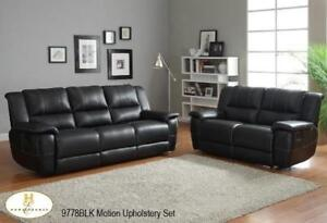 Leather Recliner Set in Black MA10 9778BLKUP (BD-1343)