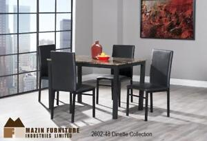 Brand New! Faux Marble Top 5 Pc Dining Set Clearance