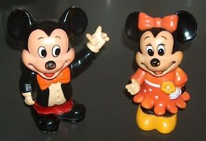 Vintage Mickey and Minnie Mouse Matching Coin Piggy Bank Set