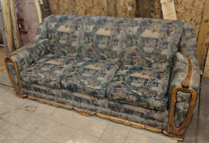 Solid Antique Couch and Chair - Free!