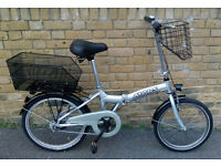 Unisex Silver/Grey MARS Folding Bike In Excellent Condition